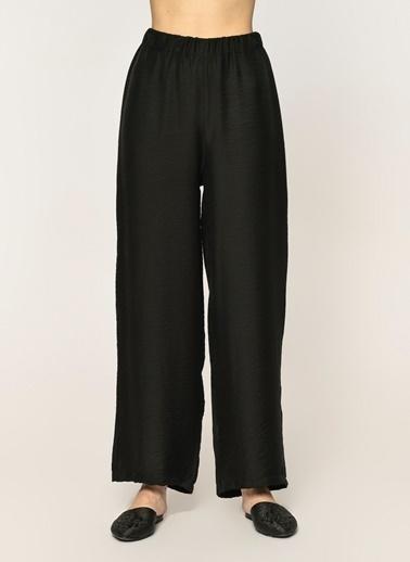 Loves You Beli Lastikli Bol Baharlık Pantolon Siyah